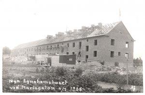 Björken 6 byggdes 1925 av Byggmästare L.A. Lovén. Först kallades huset litt. E II och det har även hetat Björken 2. Fotograf: okänd.